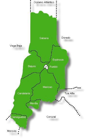 vega alta Localización: el pueblo de vega alta está localizado a unos 30 kilómetros al oeste de san juan, la capital de puerto rico, aproximadamente a 30 minutos de viaje en automovil.